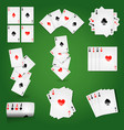 playing cards for casino poker or solitaire game vector image