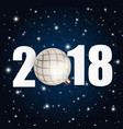 2018 new year background with christmas ball vector image vector image
