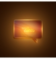 abstract background with glass transparent speech vector image