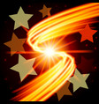 abstract futuristic design - few stars on the vector image vector image