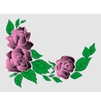 Abstract roses corner vector image vector image