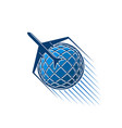 airplane jet and blue globe world icon vector image vector image
