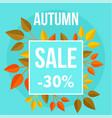autumn sale market blue background flat style vector image vector image