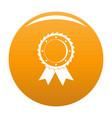 award icon orange vector image