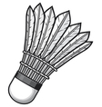 badminton shuttlecock vector image vector image