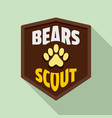 bears scout logo flat style vector image