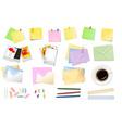 big set of office envelopes vector image vector image