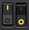 black toggle power switches vector image vector image