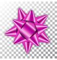 bow ribbon christmas vector image