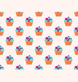 cake seamless pattern the cream in the basket vector image vector image