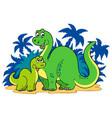cartoon dinosaur family vector image