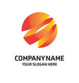 company logo design with slogan and typogrpahy vector image