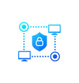 computer network cyber security icon for web vector image vector image