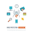 Concepts for data protection internet security vector image vector image