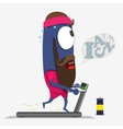 Cool monster running on a treadmill Sportpartner vector image vector image