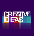 creativity of creative ideas business word vector image vector image