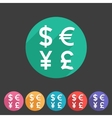Currency exchange sign icon converter symbol money vector image vector image
