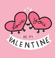 Cute pink hearts and be my valentine word