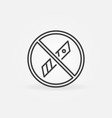 do not use knife blades outline concept vector image