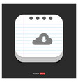 download icon gray icon on notepad style template vector image