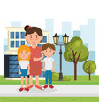 family members on the park vector image vector image