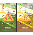 Flat style pizza menu design vector image vector image