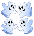 four cute ghosts vector image