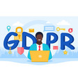 gdpr or general data protection regulation vector image