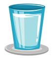 glass with water vector image