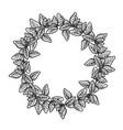 graphic oregano wreath vector image vector image