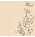 Hand draw grunge butterfly Abstract background vector image vector image