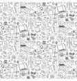 hand drawn home seamless pattern repeat vector image