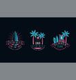 hawaii summer logo original design set summer vector image vector image
