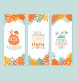 hello summer enjoy vacation banner template vector image vector image
