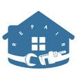 house repair tool symbol vector image vector image