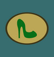 icon in flat design fashion footwear women high vector image