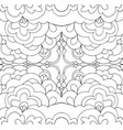 intricate abstract psychedelic line ornament vector image vector image
