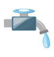 isolated water faucet vector image vector image