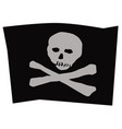jolly roger skull with bones on a black background vector image