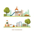 Kids playground vector image