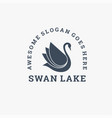 logo swan vintage badge style vector image vector image
