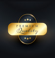 luxury premium quality golden label design vector image vector image