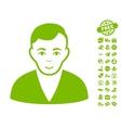 Man Icon With Free Bonus vector image vector image