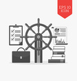 Management leadeship concept icon Flat design gray vector image