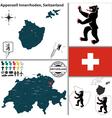 Map of Appenzell Innerrhoden vector image vector image