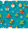 Merry Christmas and Happy New Year seamless vector image