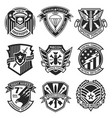 military patch emblem badge set vector image vector image