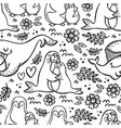 my lovely mum sea animal seamless pattern vector image