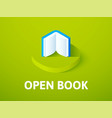 open book isometric icon isolated on color vector image