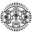Oval pattern inspired by Asian culture vector image vector image